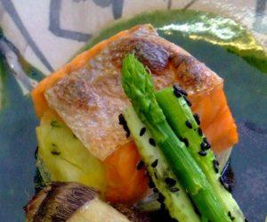 Grilled Salmon Saladas